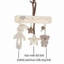 Free ship Creative Infants Cradle Cute Rabbit baby music hanging bed safety seat