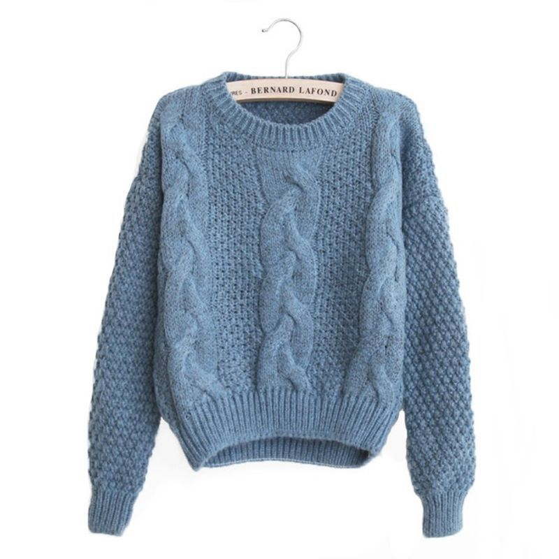 Women Sweaters 2020 Autumn Warm O Neck Pullover Twist Pull Femme Fashion Knitted Sweaters Jumpers Loose Sweater