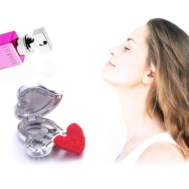 28 סגנון עיצוב ארומתרפיה לב שרשרת קריסטל ריינסטון תליוני חיוני שמן בושם ארומה מפזר תליון שרשרת