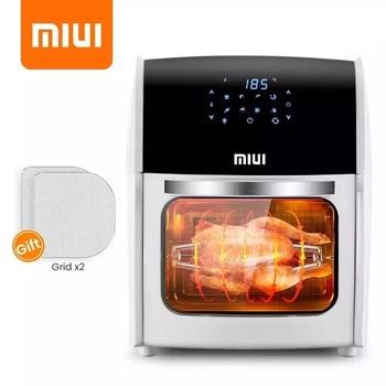 MIUI 10L 12 7QT beztłuszczowa frytownica piekarnik bez oleju toster dla domu elektryczny piec rotacyjny z LED cyfrowy ekran dotykowy maszyna do smażenia 5w1 tanie i dobre opinie Teflonowe Certyfikat LFGB Rohs SASO 1800W 220 v CN (pochodzenie) 8081D SQUARE Galvanized Sheet Frytkownica na gorące powietrze