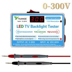 O verificador multiuso do diodo emissor de luz da lâmpada e da luz de fundo da tevê conduziu a saída do verificador 0-300v dos instrumentos de medição da ferramenta do teste das grânulos das tiras