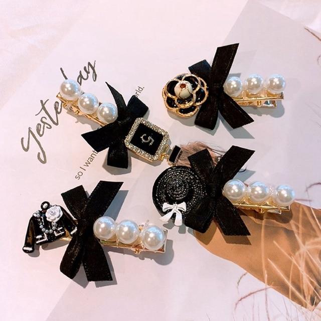 Фото искусственные жемчужные заколки для волос с бахромой винтажная
