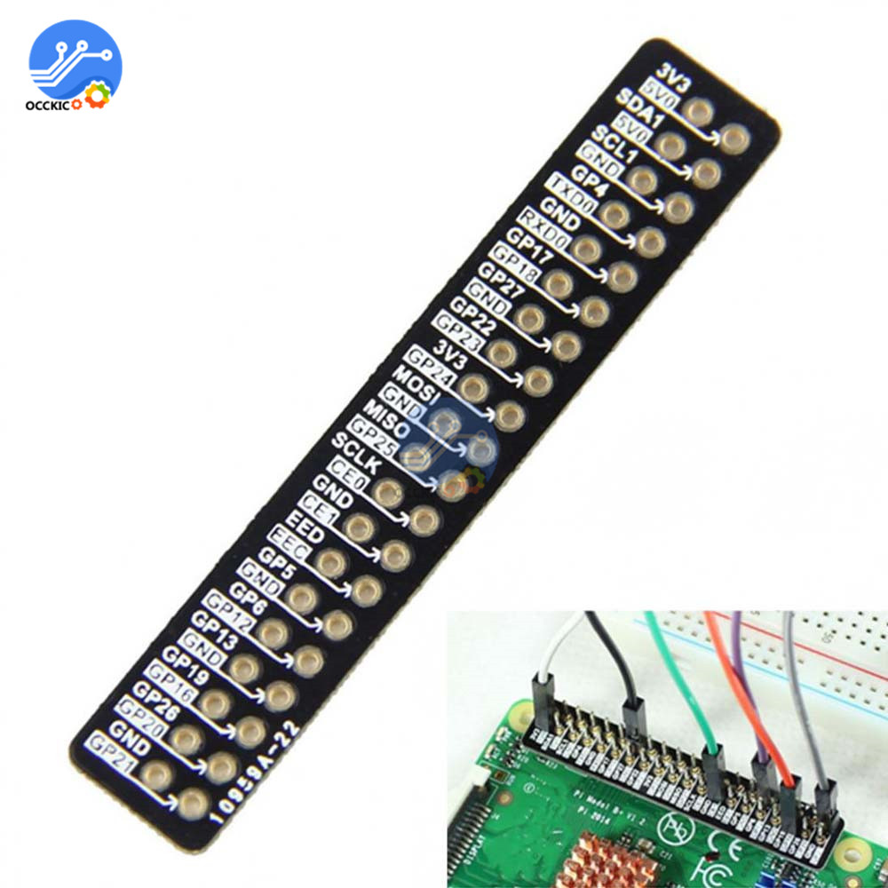 Distinguishable GPIO Pin Reference Board For Raspberry Pi 2 Model B / B+ Black