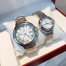 パブロ · raez 100% 鋼腕時計男性レロジオmasculino腕時計シルバー高級腕時計フォールディングクラスプファッション女性腕時計ギフト · ウォッチ