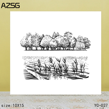 ZhuoAng landscape Clear Stamps For DIY Scrapbooking/Card Making Decorative Silicon Stamp Crafts