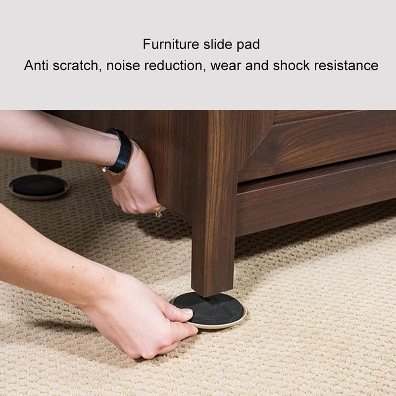 2pcs Furniture Sliding Mat Moving Pad Sturdy Wear Resistant Thickened Slip Pad Protect Carpet