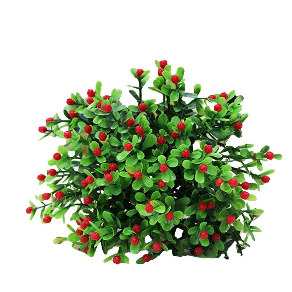 ใหม่ 15 หัว/1 Bouquet ประดิษฐ์ Aglaia Odorata ดอกไม้งานแต่งงานหน้าแรก Decor ประดิษฐ์ตกแต่ง Home & Garden