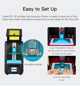 Image 3 - Anycubic Photon Sla 3d Printer Tft Touch Screen Uv Licht Desktop Imprimante 3d Lcd 3d Printer Kit Impresora 3d Uv hars