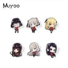 2021 New Arrival Kakegurui Anime Characters Epoxy Badge Handcraft Acrylic Lapel Pins