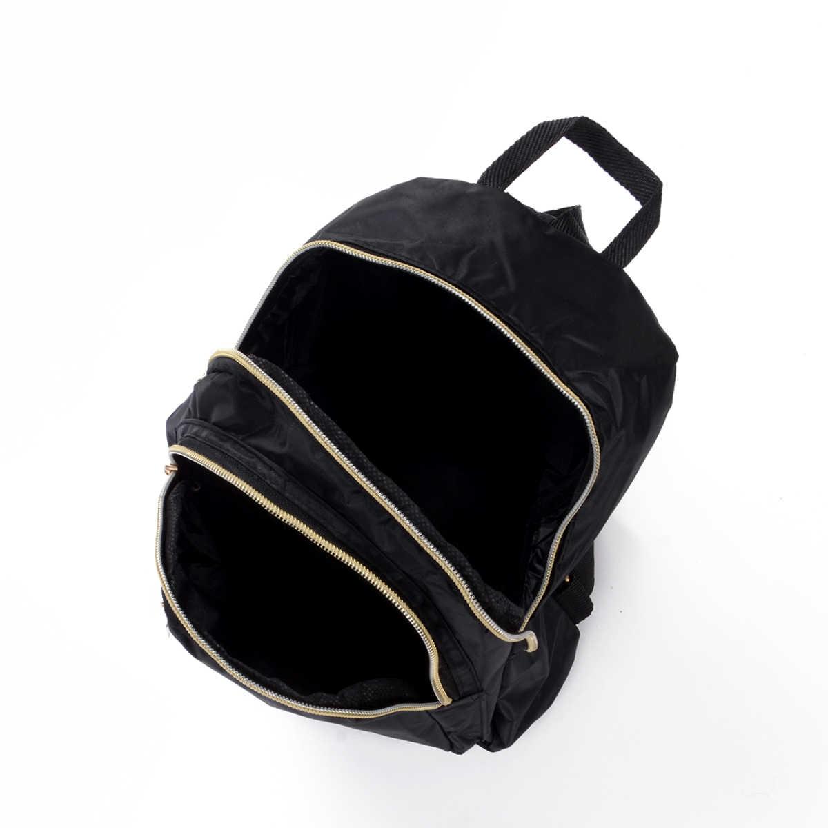 Yerel stok rahat Oxford sırt çantası kadın siyah su geçirmez naylon okul çantaları genç kızlar için yüksek kaliteli seyahat Tote sırt çantası