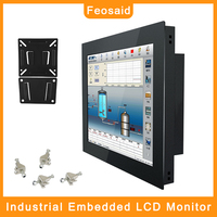 Feosaid 19 inch Industrial LCD display Monitor Tablet Monitor HDMI TV DVI VGA 19 Embedded Computer Monitor Resolution 1280x1024