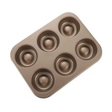 6 Holes Non stick Cake Mold Stick Cupcake Muffin Biscuit Pan Carbon Steel N84C