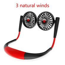 free shipping delta 3 9a violent fan 12cm the best tfc1212de oversized air volume four wire speed 1Set USB Rechargeable Hands-free Hanging Neck Fan 3 Speed Adjustable Air Cooler Fan for Home Office Dormitory