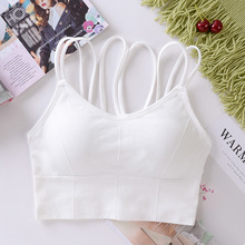 Women Tanks Crop Top Female Seamless Underwear Sleeveless Sports Camis Cropped Crop Tops Sexy Lingerie Padded Camisole