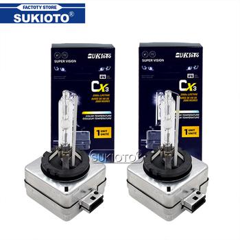SUKIOTO 2 sztuk AC 35W 55W D1S D1R D3S D3R 6000K 4300K 10000K 8000K 5000K D1 D3 żarówka do reflektorów samochodowych lampa światła samochodowe ksenonowe żarówki HID tanie i dobre opinie 12 v d1s 6000k Metal Claw D1S D2S D3S D4S D1R D2R D3R D4 d3s 6000k AC high quality for D1S D2S D3S D4S ballasts xenon car light