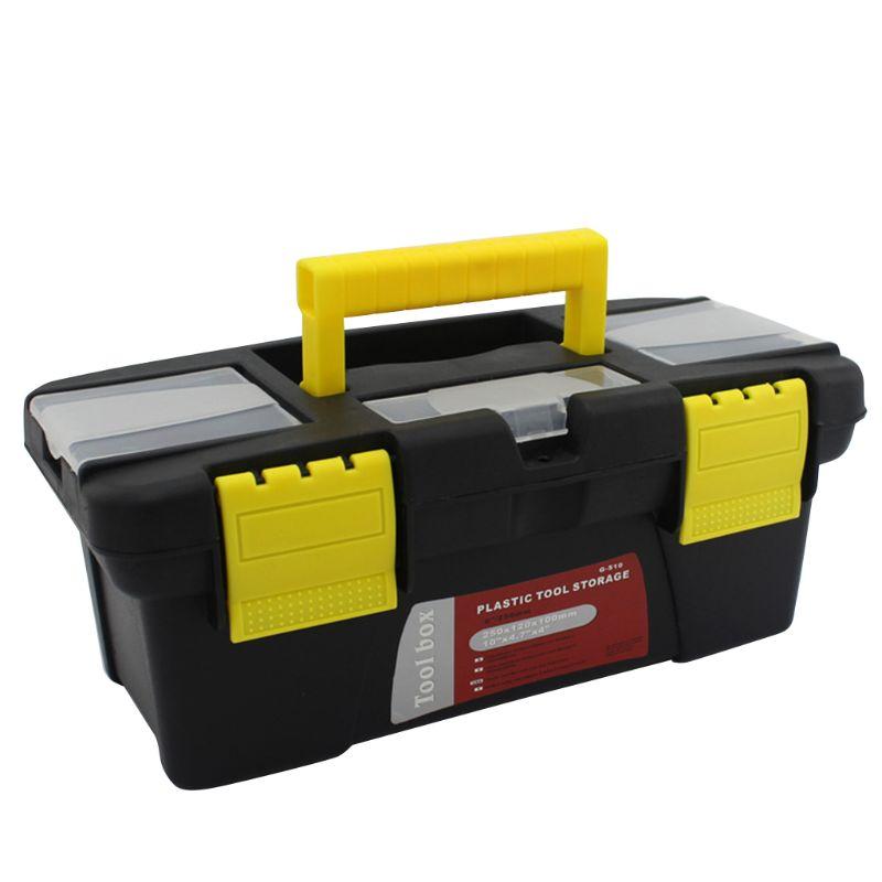 Portable Hardware Storage Box Repair Tool Box Case Multi-Function Home Toolbox 95AA