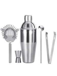 UPORS Cocktail-Set Shaker-Set Spoon Muddler Bartender-Kit Jigger-Bar Stainless-Steel