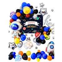 Système solaire espace nuage joyeux anniversaire ballon fête décoration Kit espace extérieur thème voyage à la lune fête décoration