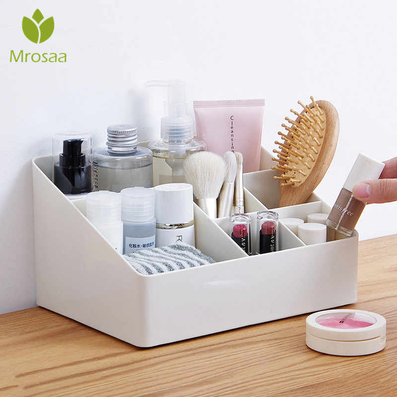 Makeup Organizer Desktop Storage Box Saving Space Home Office Organizer Cosmetic Skin Care Jewelry Box Sundries Container Holder