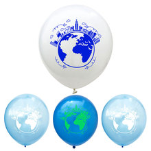 12inch World Map Balloon Planet Latex Balloons Children Classroom Party Decoration Baby Shower Birthday Party Supplies Globos