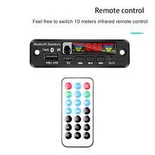 Kolorowy ekran 5 V MP3 WMA WAV płyta dekodera TWS Bluetooth 5.0 bezprzewodowy moduł Audio USB AUX TF Radio FM do akcesoriów samochodowych