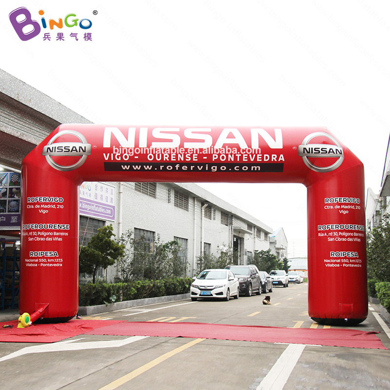 9X5 meters PVC Air Blown Advertising Arch Inflatable Driving Race Outdoor Decor for Promotion