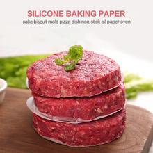 500 шт силиконовая бумага для выпечки, обработанная силикагелем, антипригарная жаростойкая круглая антипригарная печь для барбекю, аксессуары