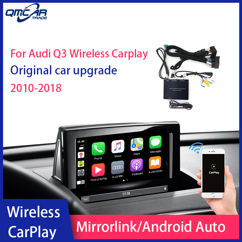 QMCAR Wireless Apple CarPlay for 2010-2018 Audi Q3 With 3G+MMI Android Auto /Carplay Car Multimedia player image