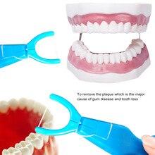 30 м нейлоновая зубная нить с держателем Pro Бытовая чистка зубов Палочки Инструмент для зубов Уход за полостью рта очиститель уход за зубами Стоматологическая нить