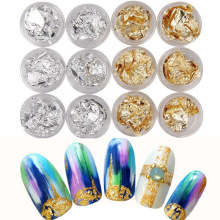 Nail decorations gold foil silver paper 6 suit diy jewelry
