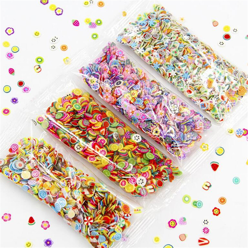1000PCS Mini 5mm Resin Artificial Fruit Slice Charms Slime Fimo Clay Banana Grapes Orange Jewelry Making Accessory Table Props