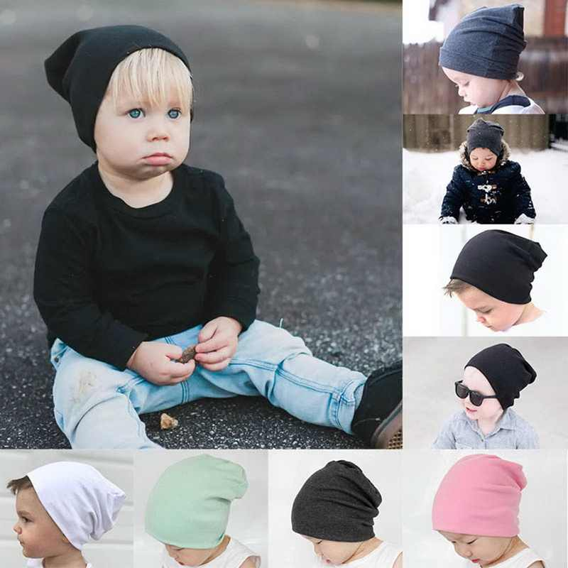 MoneRffi Baby Solid Color Soft Winter Warm Beanies Kids Fashion Cute Slouchy Hats Toddlers Cap 2019 New Comfortable Hip-hop Hats