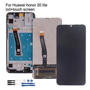 Image 1 - ЖК дисплей для Huawei Honor 20 Lite с сенсорным экраном и дигитайзером, оригинальные запчасти для телефонов Honor 20 lite, ЖК дисплей