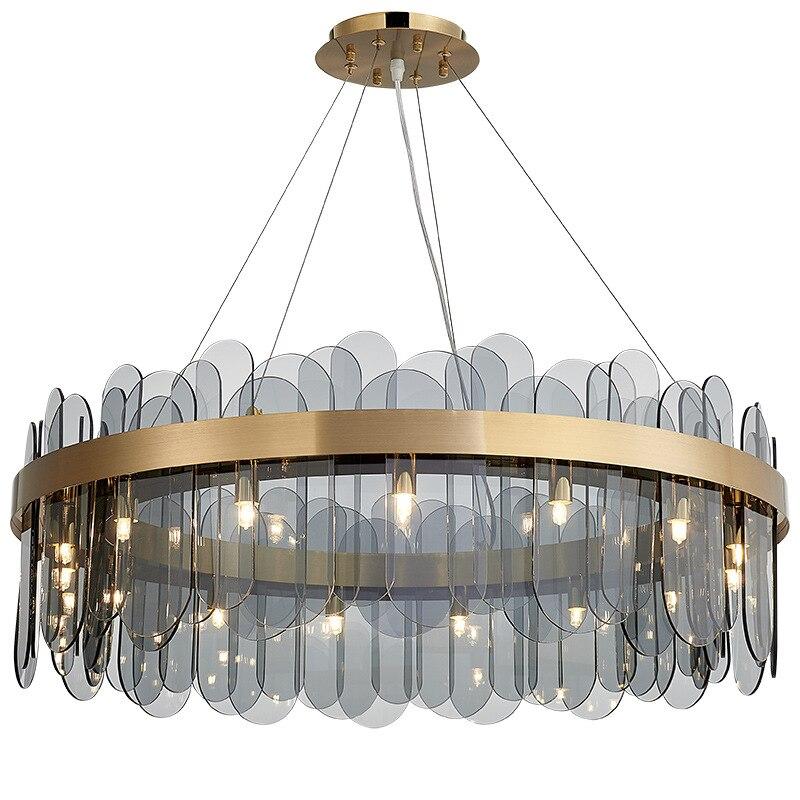 2019 новый современный простой светильник, роскошный стеклянный светодиодный подвесной светильник для спальни, гостиной, столовой, внутренн...