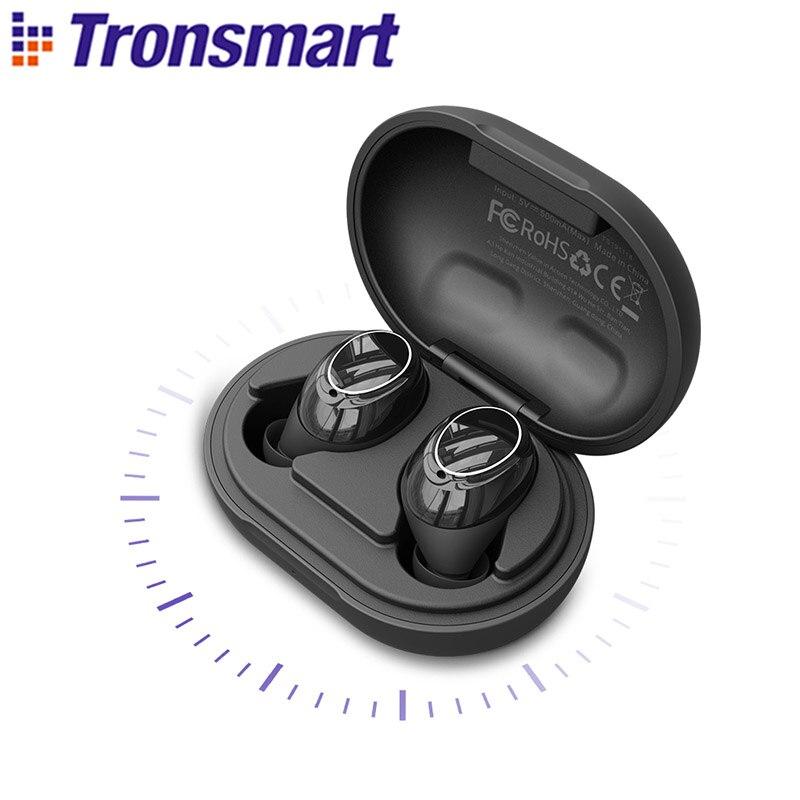 Tronsmart Onyx Neo APTX Bluetooth Kopfhörer TWS Drahtlose Ohrhörer mit Qualcomm Chip, Volumen Control, 24H Spielzeit