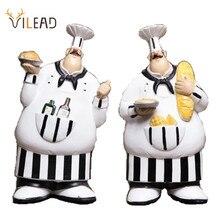 Винтажные креативные фигурки шеф повара VILEAD, 26 см, 2 шт./компл., рождественские украшения для дома