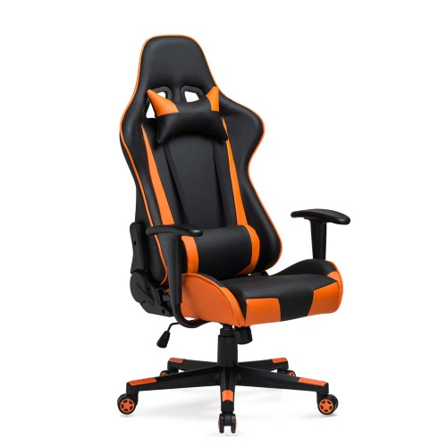 High Back Racing Office Chair PU Leather Gaming Chair With Headrest Lumbar Support