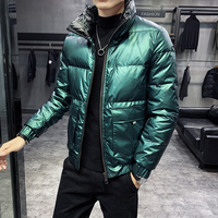 Green Bomber Jackts Man Winter Coats Down Puffer Jackets Fashion Snow Short Jacket Coat Winter Men Parka Thick Mens Clothes