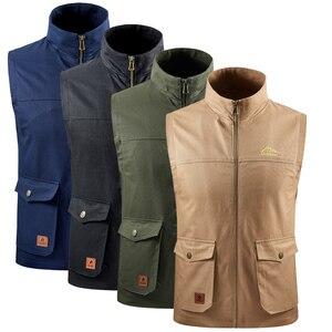Осенняя одежда, куртка без рукавов, 100% хлопок, жилет, Мужская фотография, тонкий жилет с рыбкой, зимнее плюшевое пальто размера плюс 8XL, 2020