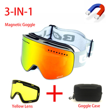 ski goggles motorcycles goggle double layers UV400 anti fog big ski mask glasses skiing snow men women snowboard goggles