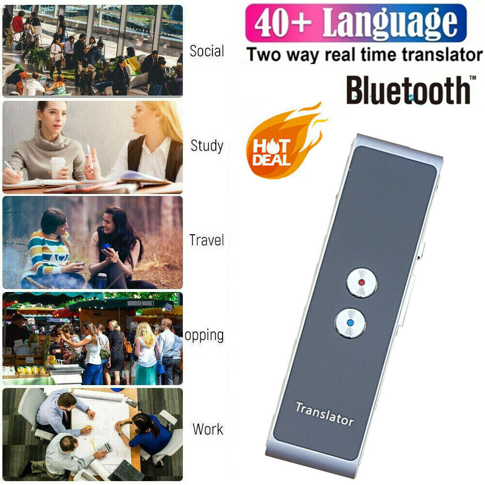 Image 3 - Portable T8 Smart Voice Speech Translator Two Way Real Time 40+ Multi Language Translation For Learning Travelling Business Meet-in Translator from Consumer Electronics