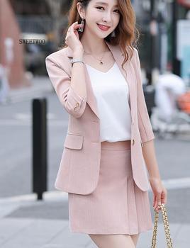 Women's Suit Vintage Women Skirt Suit Blazer Jacket 2020 Spring Office Wear Women Suit With a Skirt Female Sets 5XL skirt suit for women jacket female korean version 2019 spring and autumn office lady uniform blazer chiffon skirt 9856