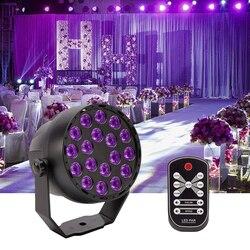 54W LED Panggung Lampu UV Lampu PAR LED Crystal Magic Ball Lampu DMX Controller Ungu Efek Pencahayaan untuk Disco dj Club Partai KTV