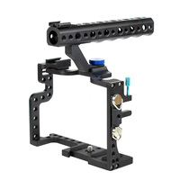 F11100 Professional GH3 GH4 Protective Housing Case Handle Grip Rugged Cage Combo Kit DSLR Rig Digital Camera
