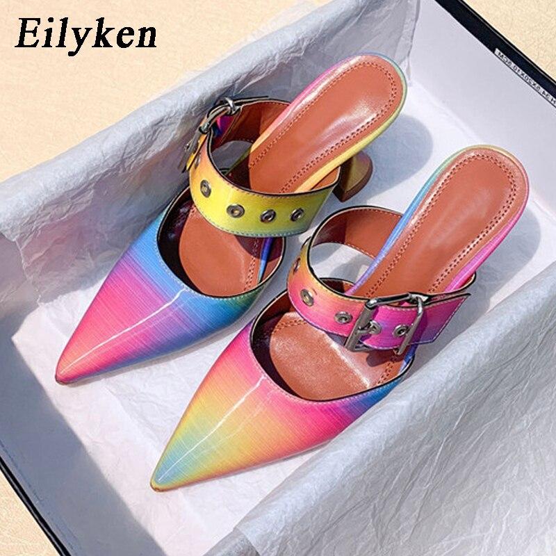 Eilyken/размеры 41, 42; женские туфли-лодочки; летние женские туфли с ремешком и пряжкой; женские туфли-лодочки с острым носком на высоком каблуке-...