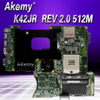 Akemy For Asus K42JR Laptop motherboard REV 2.0 HM55 DDR3 For ASUS k42j A40J K42JZ K42JB K42JY Laptop Mainboa 100% tested intact