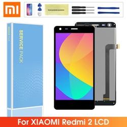 Oryginalny LCD dla Xiaomi Redmi 2 2A 2 Pro wyświetlacz lcd ekran dotykowy z ramką Digitizer zgromadzenie dla Xiaomi Redmi 2 LCD w Ekrany LCD do tel. komórkowych od Telefony komórkowe i telekomunikacja na