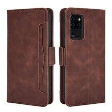 Skórzany portfel z kieszeniami na karty wymienny do Oukitel C22 C21 Pro Flip Case 360 etui ochronne na telefon do Oukitel C 21 22 Case odporny na wstrząsy