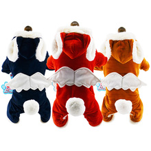 Winter Pet Dog Clothes Cats Angel wings Jumpsuit Puppy Cat Clothing For Coat Thick Pets Dogs Chihuahua York