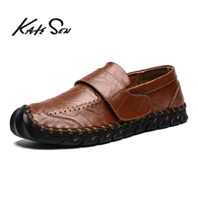 Buy KATESEN 2019 Spring/Autumn Men Shoes Fashion Loafers Men Casual Driving Shoes Soft Moccasins Flats Slip on Footwear Men Big Size directly from merchant!